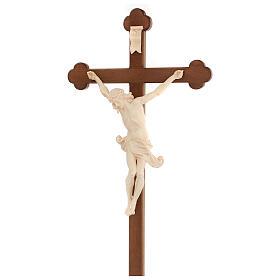 Crucifix trilobé Valgardena mod. Corpus naturel ciré s5