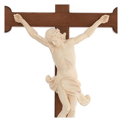 Crucifix trilobé Valgardena mod. Corpus naturel ciré 2