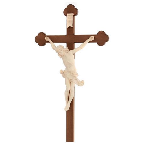 Crucifix trilobé Valgardena mod. Corpus naturel ciré 5