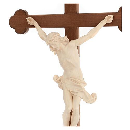 Crucifix trilobé Valgardena mod. Corpus naturel ciré 6