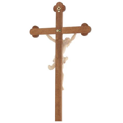 Crucifix trilobé Valgardena mod. Corpus naturel ciré 7