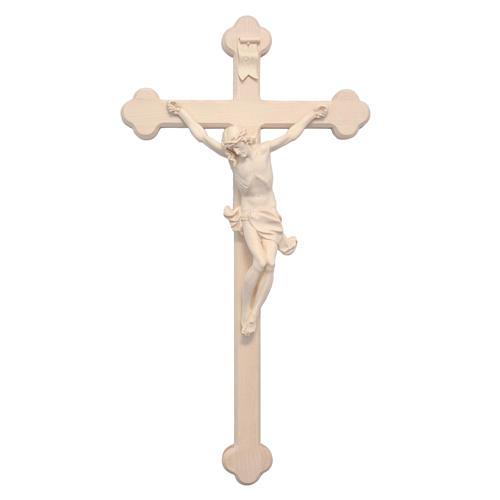 Crucifix trilobé Valgardena mod. Corpus naturel 1