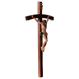 Crocifisso croce curva scolpita Corpus Valgardena s4
