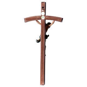 Crocifisso croce curva scolpita Corpus Valgardena s5
