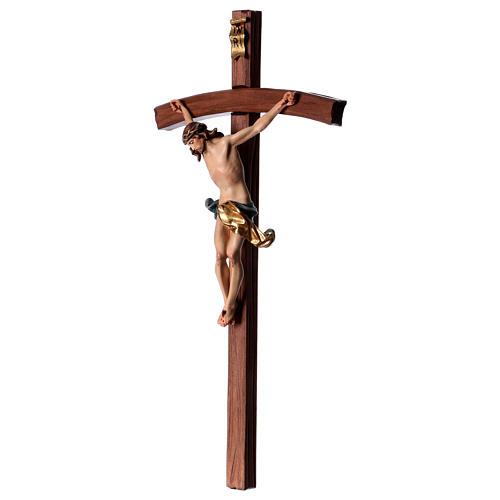 Crocifisso croce curva scolpita Corpus Valgardena 3