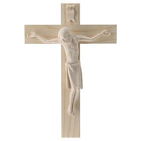 Crucifijo románico, madera Valgardena natural s1