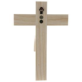 Crucifijo románico, madera Valgardena natural s5