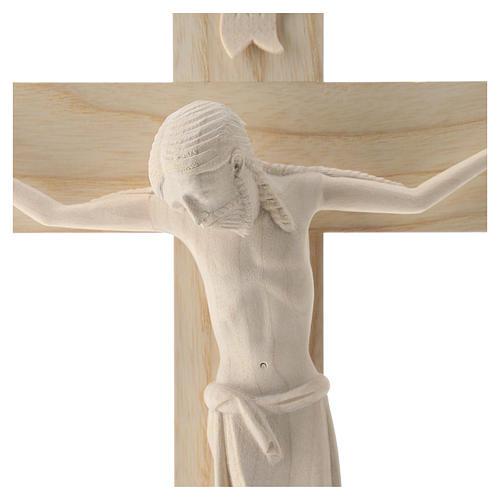 Crucifijo románico, madera Valgardena natural 2