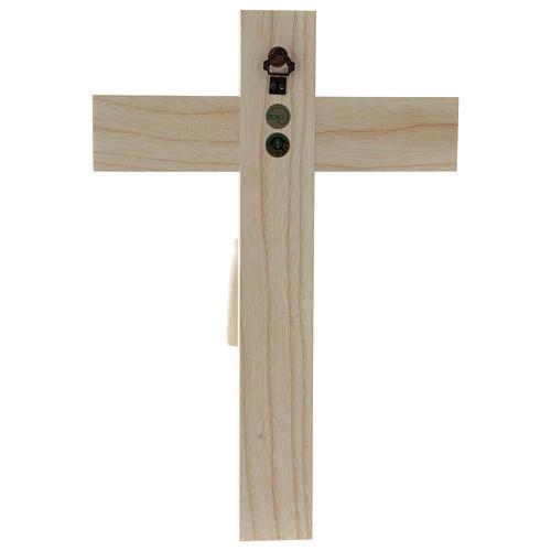 Crucifijo románico, madera Valgardena natural 5