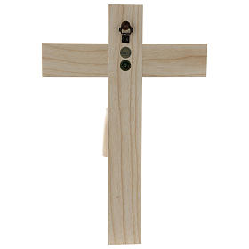 Crucifix in Romanesque style, natural Valgardena wood s5