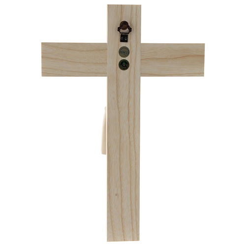 Crucifix in Romanesque style, natural Valgardena wood 5
