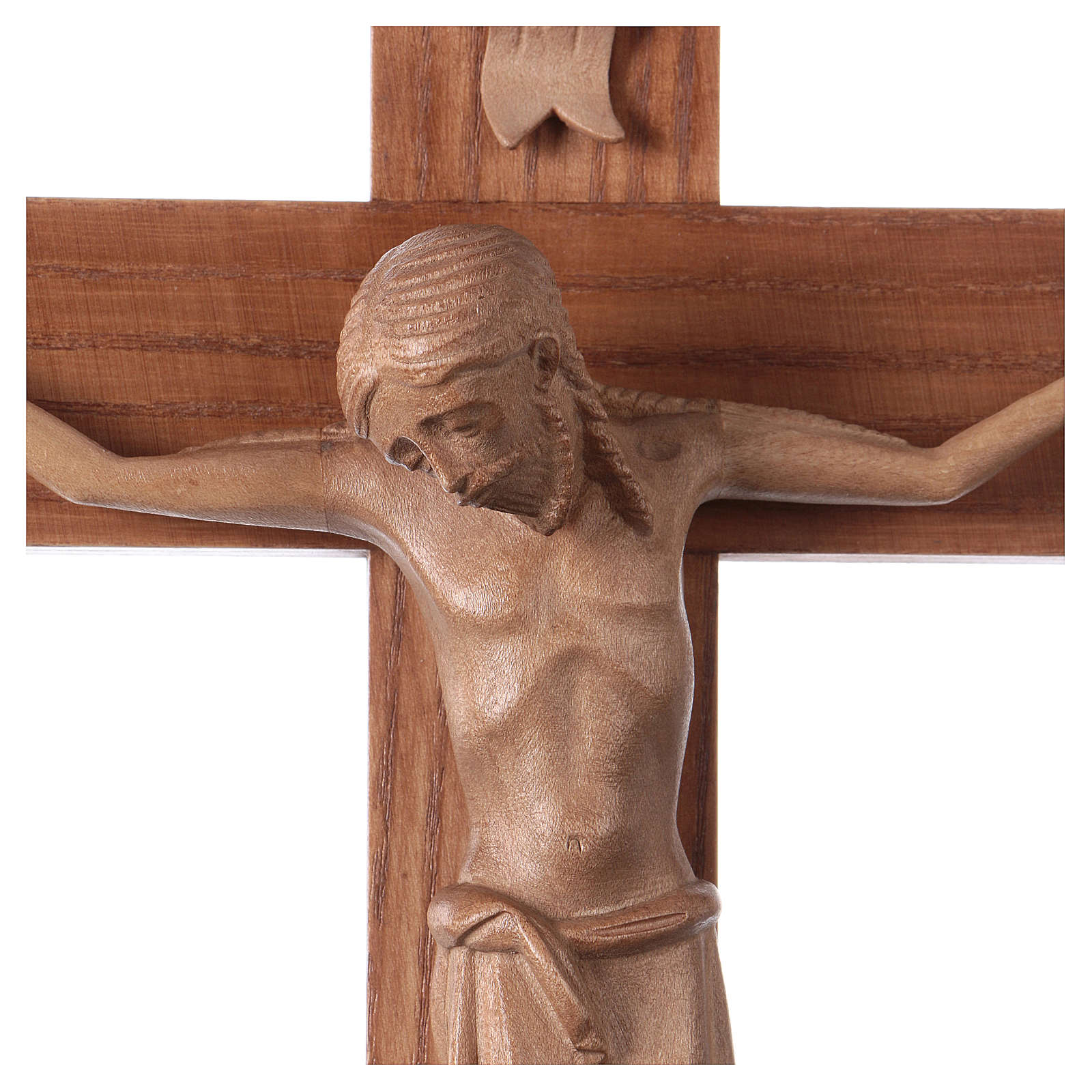 Crucifix roman bois patiné Valgardena 4