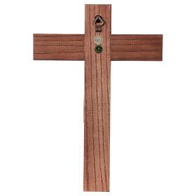 Crocifisso romanico legno Valgardena patinato s5