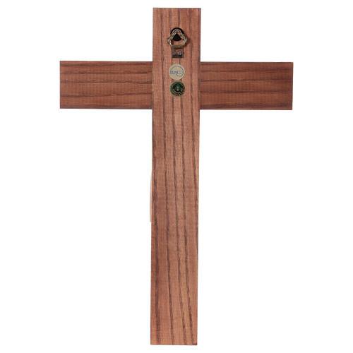 Crucifixo românico madeira patinada Val Gardena 5