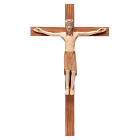 Wooden crucifixes: Altenstadt crucifix, romanesque in multi-patinated Valgard
