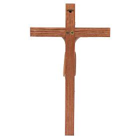 Crocefisso di Altenstadt romanico legno Valgardena multipatinato s4