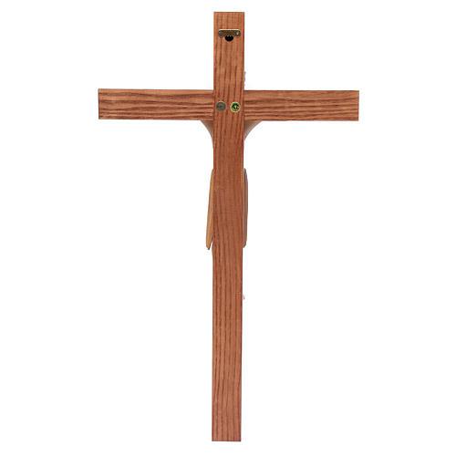Crocefisso di Altenstadt romanico legno Valgardena multipatinato 4