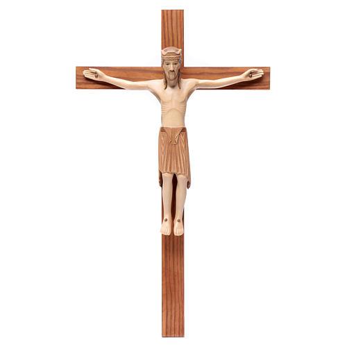 Crocefisso di Altenstadt romanico legno Valgardena multipatinato 1
