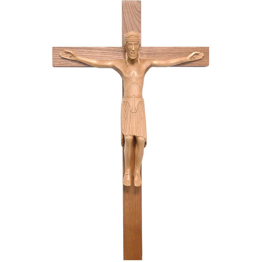 Crucifijo de Altenstadt románico, madera Valgardena patinada 4