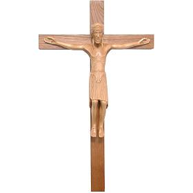 Crucifijo de Altenstadt románico, madera Valgardena patinada s1