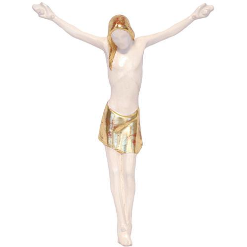 Corpo di Cristo corpus stilizzato legno Valgardena Antico Gold 1