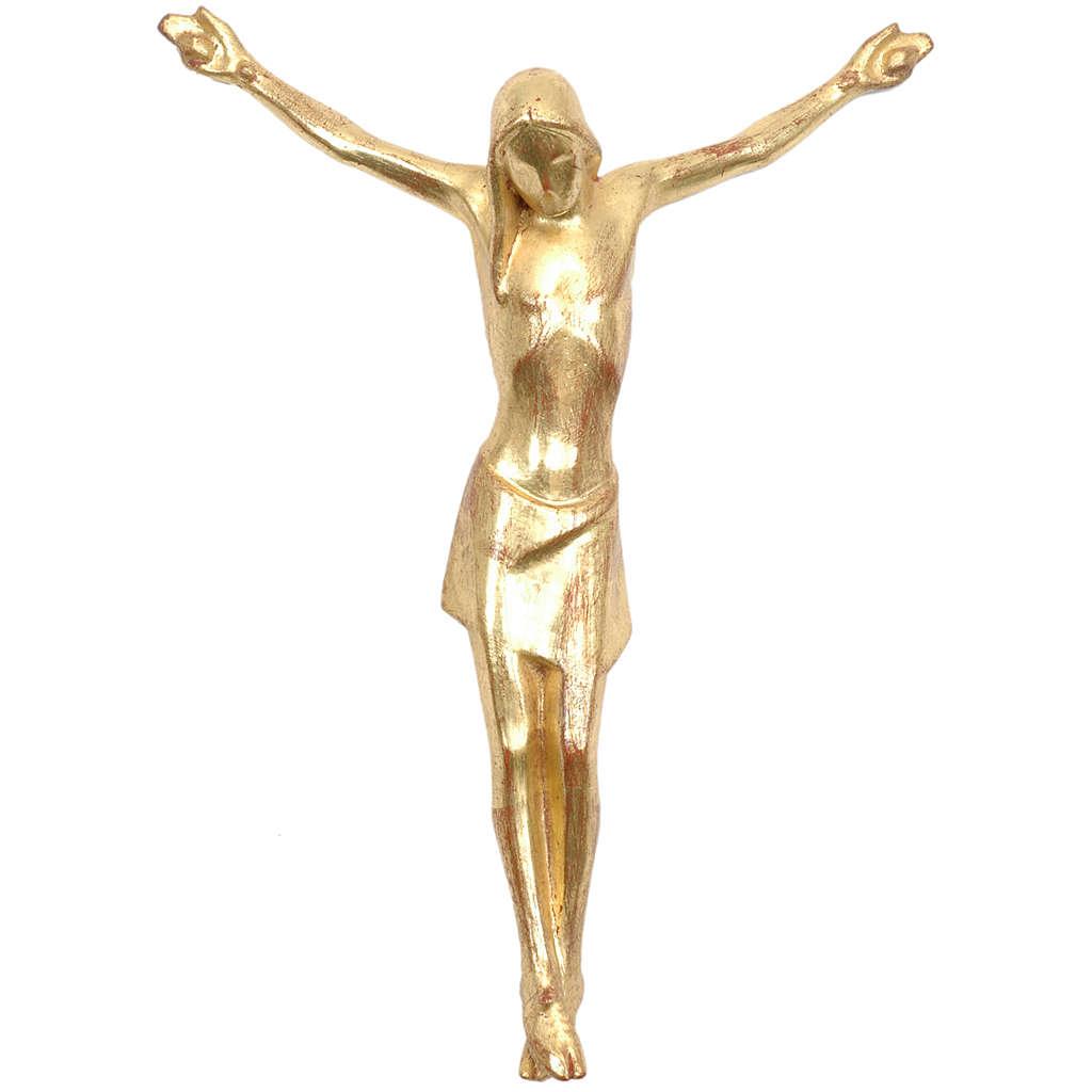 Corpo di Cristo corpus stilizzato legno Valgardena Gold 4