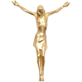 Corpo di Cristo corpus stilizzato legno Valgardena Gold s1