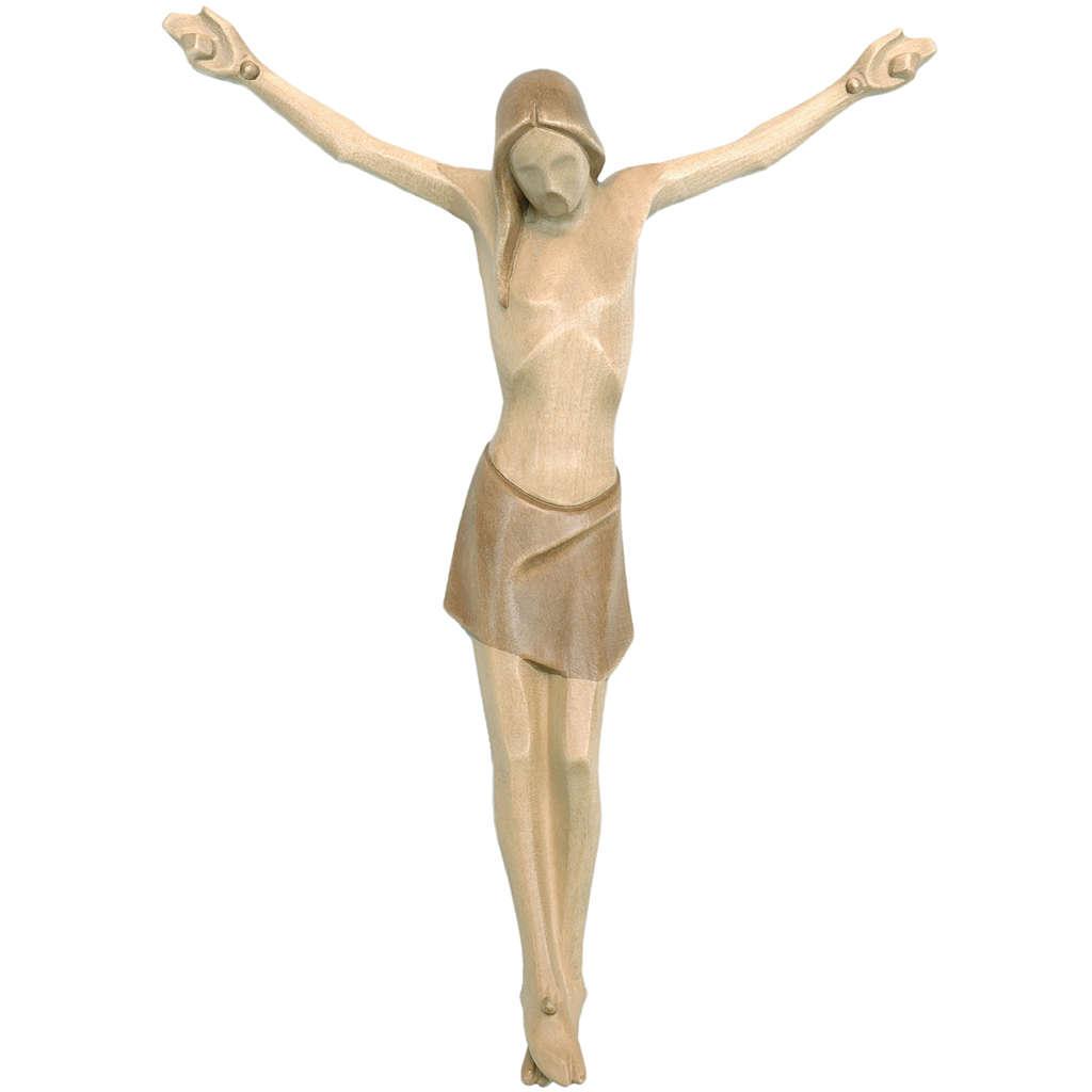 Corpo di Cristo corpus stilizzato legno Valgardena multipatinato 4