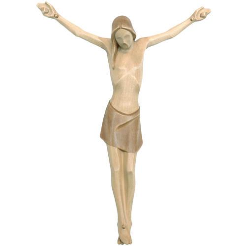 Corpo di Cristo corpus stilizzato legno Valgardena multipatinato 1
