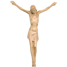 Corpo di Cristo corpus stilizzato legno Valgardena patinato s1