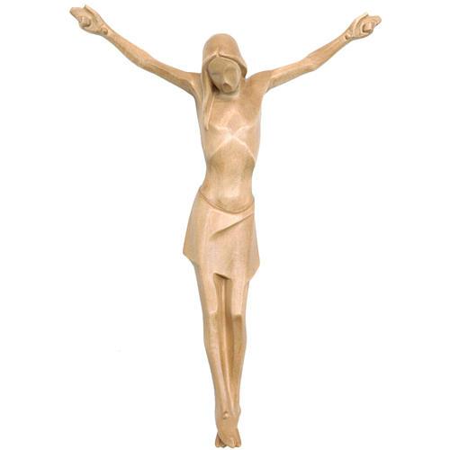 Corpo di Cristo corpus stilizzato legno Valgardena patinato 1