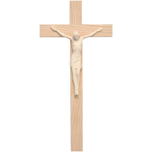 Crocifisso stilizzato legno Valgardena naturale 1