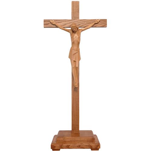 Crucifix stylisé à poser bois patiné  Valgardena 1