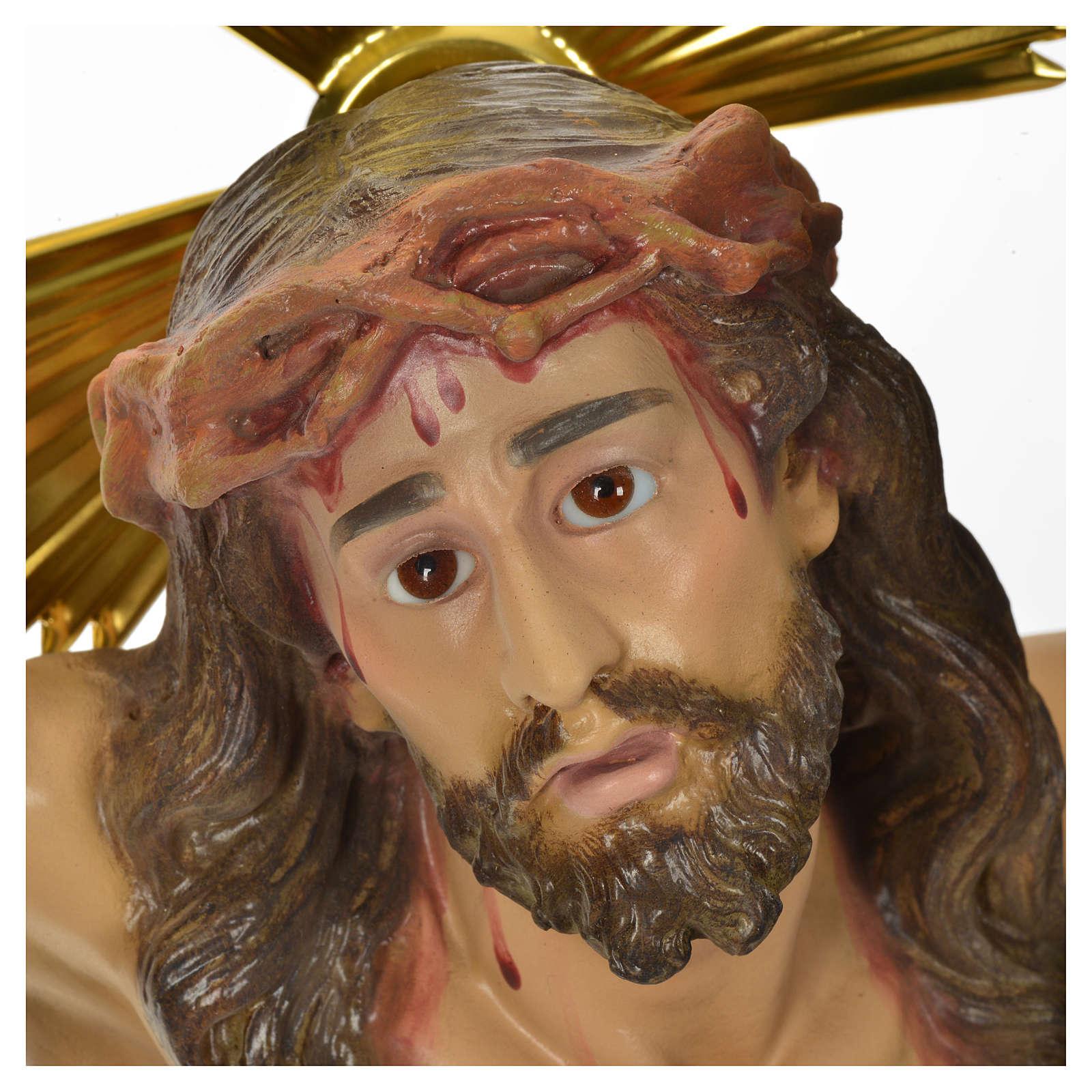 Corps du Christ 'Agonie' pâte à bois 50 cm fin. élégante 4