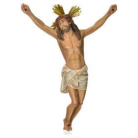 Crucifix en bois: Corps du Christ 'Agonie' pâte à bois 50 cm fin. élégante