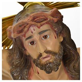 Corps du Christ 'Agonie' pâte à bois 50 cm fin. élégante s5