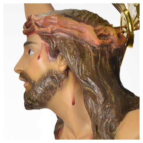 Corps du Christ 'Agonie' pâte à bois 50 cm fin. élégante 9