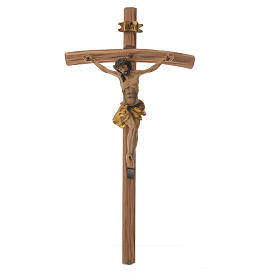 Wooden crucifixes: Crucifix in wood measuring 35cm