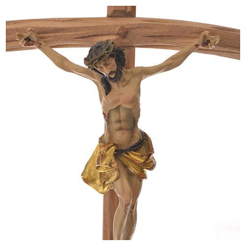 Crucifix in wood measuring 35cm 2