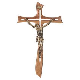 Croce ulivo Cristo resina oro 65 cm s1