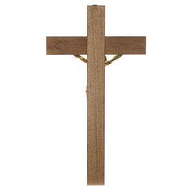 Croix noyer foncé Christ résine or 65 cm s4