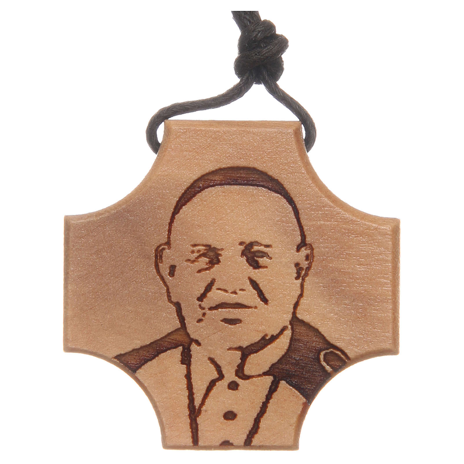 STOCK Croce in ulivo con incisione Papa Giovanni XXIII 4