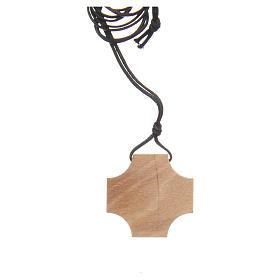Cruz de olivo Madre Teresa de Calcuta con incisión s2