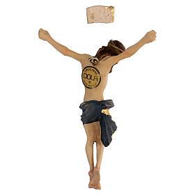 Corpo di Cristo legno dipinto drappo blu s4