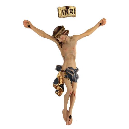 Corpo di Cristo legno dipinto drappo blu 1