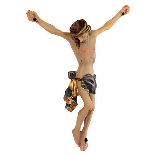 Corpo di Cristo legno dipinto drappo blu 3