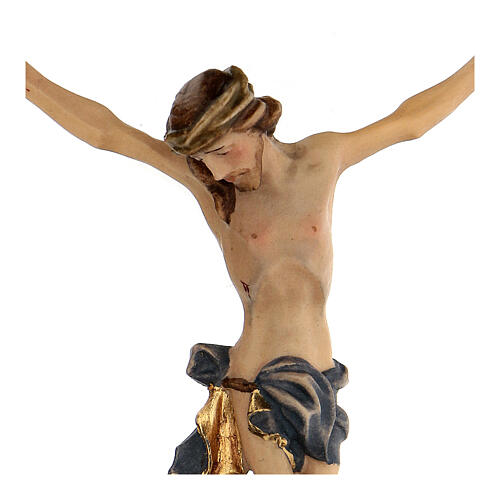 Body of Christ painted wood, blue drape 2