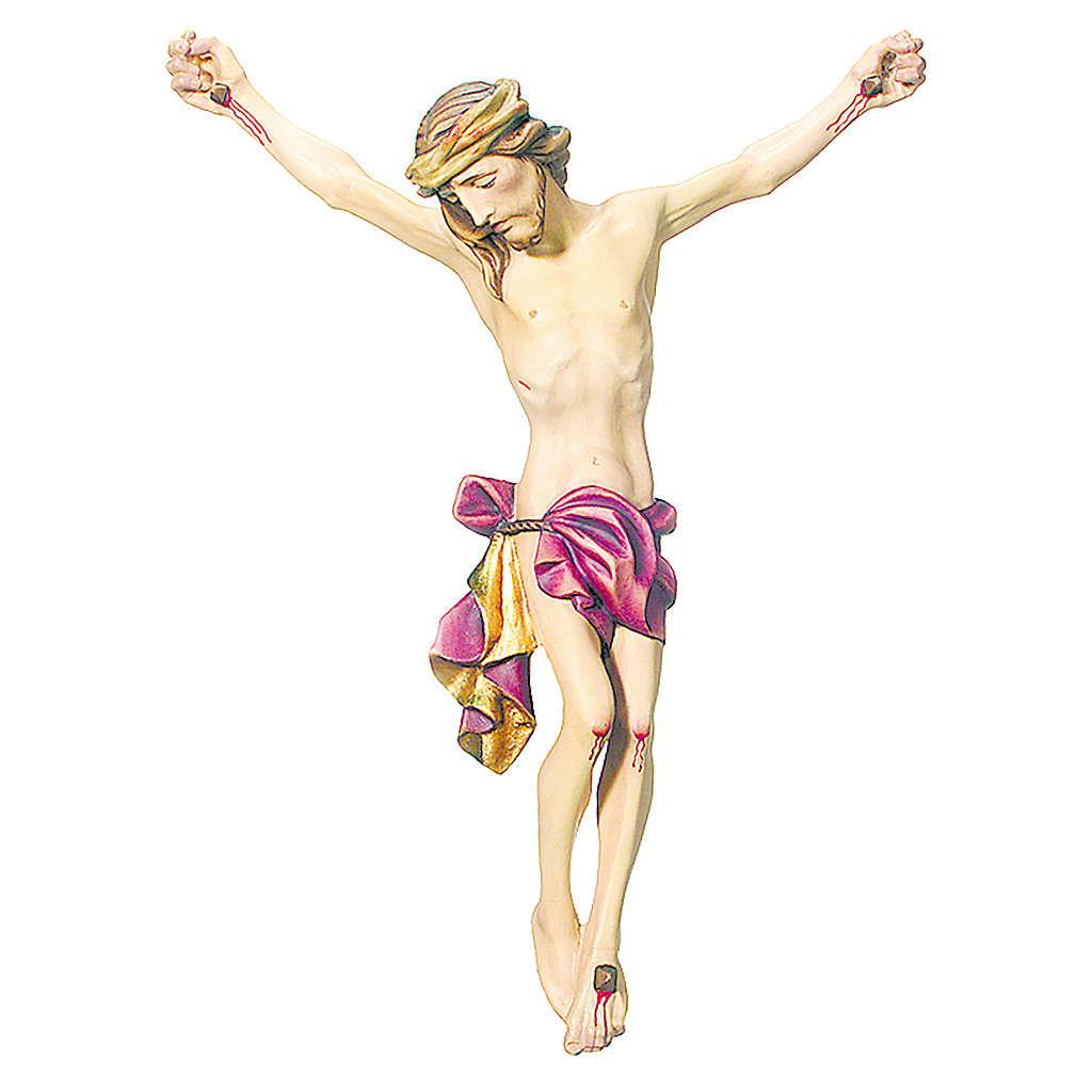 Corpo di Cristo legno dipinto drappo rosso 4