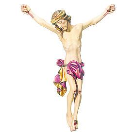 Corpo di Cristo legno dipinto drappo rosso s1