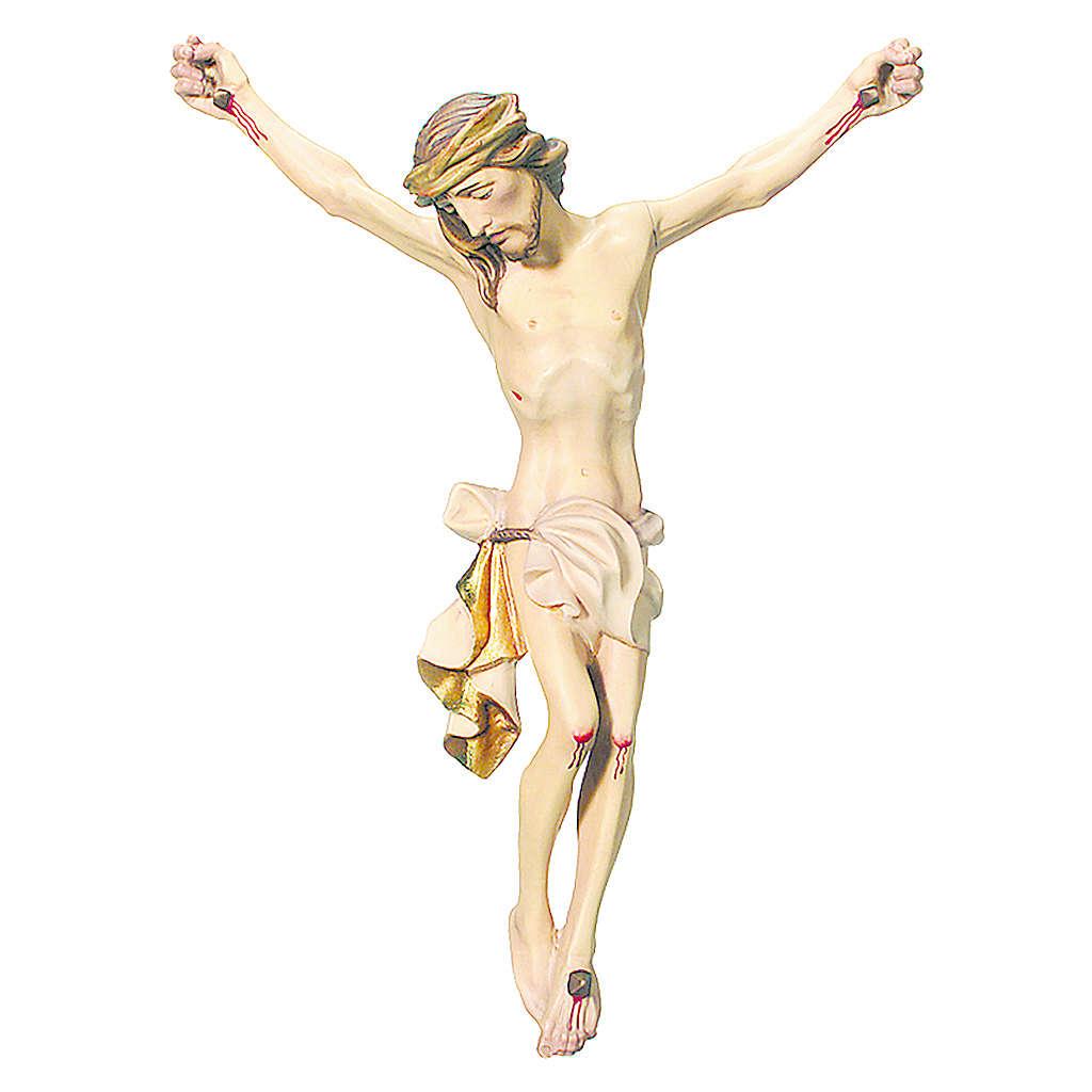 Corpo di Cristo legno dipinto drappo colore bianco 4